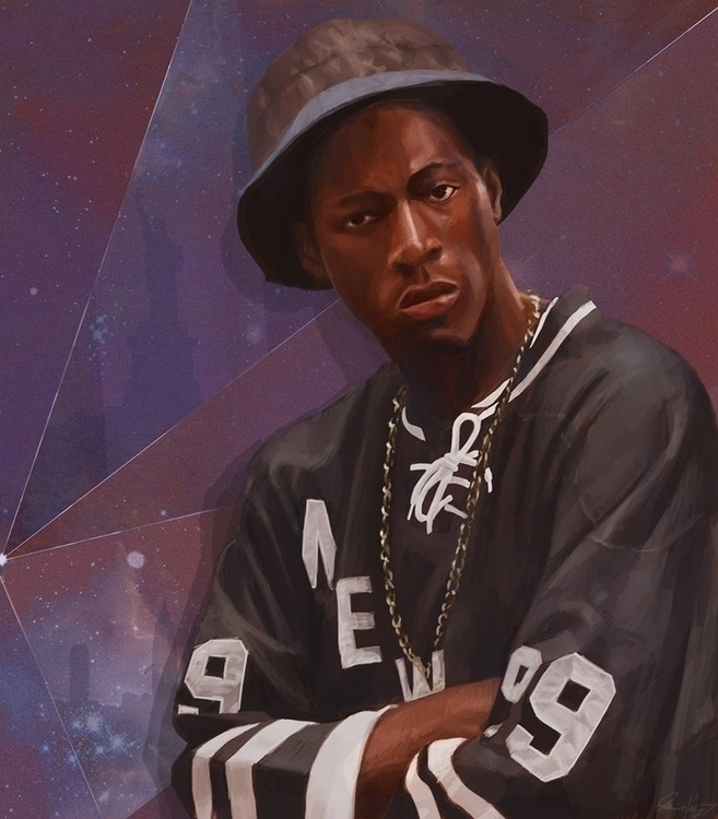 Joey Bada$$ - illustration, portrait - josehdz_illustration | ello