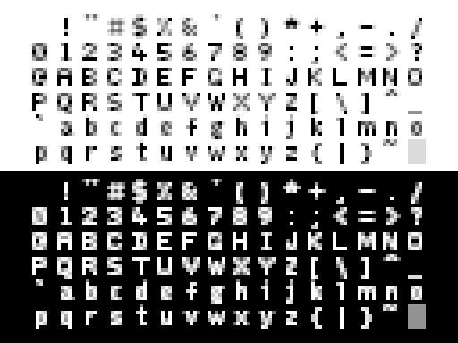 Fuzzy Logic anti-aliased font Q - punpcklbw | ello