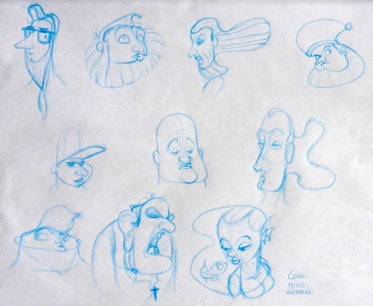 Faces_02 - sketch, characterdesign - ginarivas | ello
