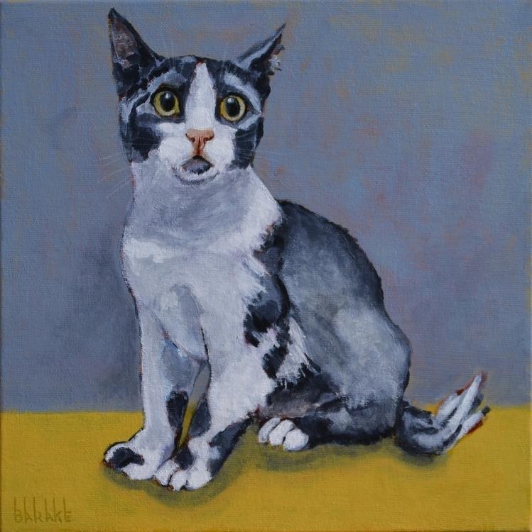 MAXWELL - painting, portrait, cats - barakesculptor | ello
