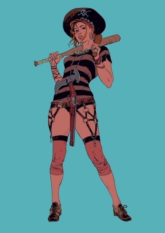 Pirate Jenny | Ink Photoshop - robertsammelin - robertsammelin-9753 | ello
