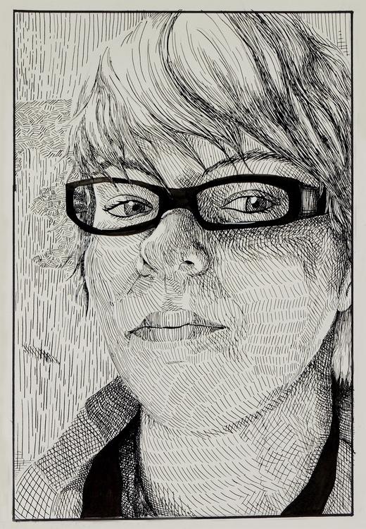 2015 portrait. Ink Bristol - selfportrait - ariannafahrenkamp | ello