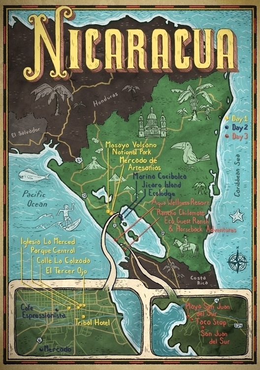 Nicaragua Map Hemispheres Magaz - barrybruner | ello