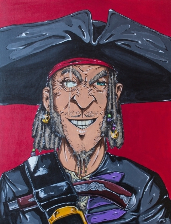 Le pirate - painting, acrylic, color - artnoz | ello