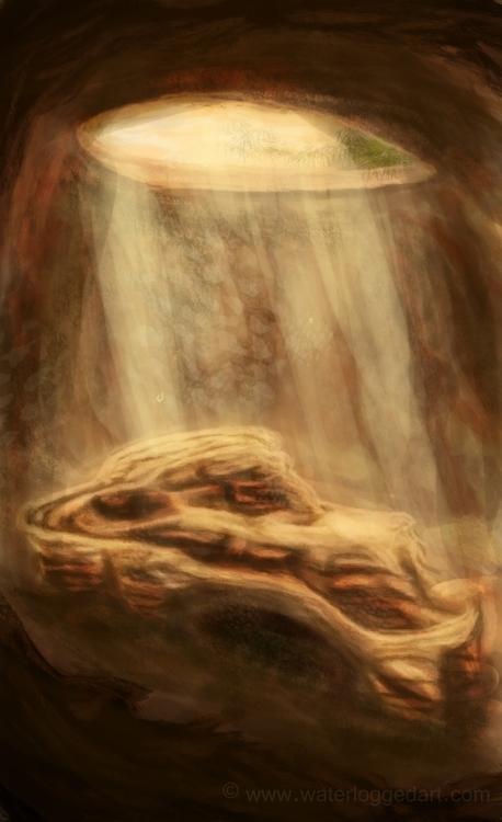 desert, cave, illustration, speedpaint - waterloggedart | ello