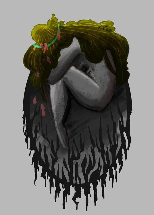 Muligrubs - drawing, illustration - peppermintmime   ello