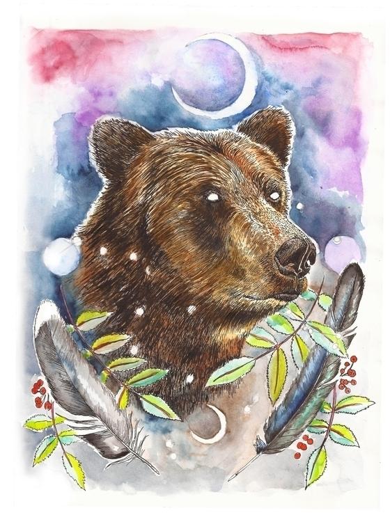 'Ursa Major' study watercolours - polkip | ello