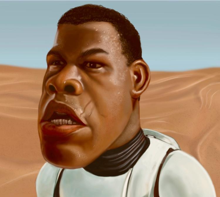 Finn (John Boyega) - Star Wars  - cesaredgar | ello