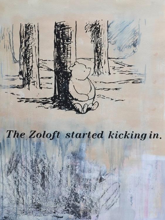 Zoloft Started Kicking Painting - alexanderkey | ello