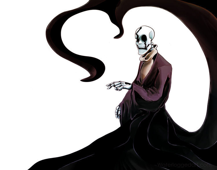 illustration, undertale, wdgaster - waterloggedart | ello