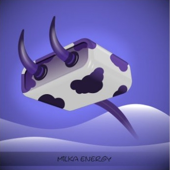 Crazy MILKA plug - vectorillustration - igor01 | ello