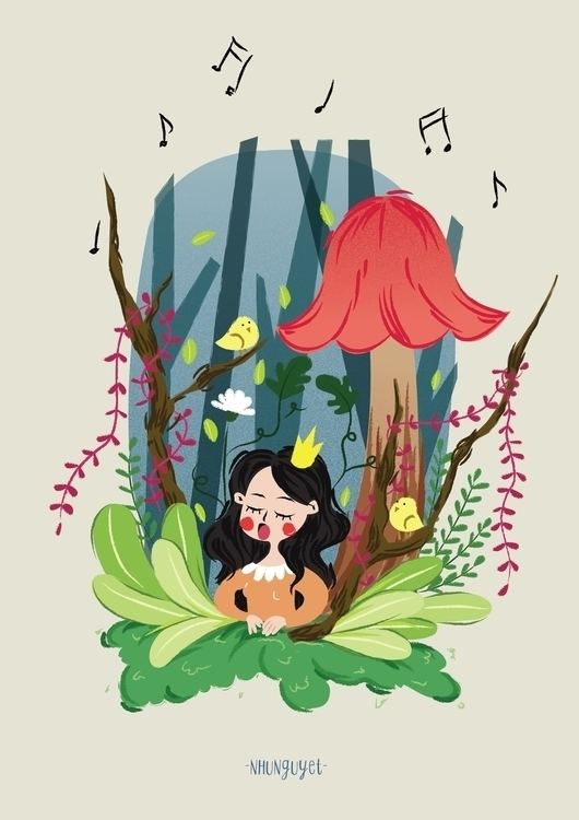 illustration, drawing, princess - nhunguyet | ello