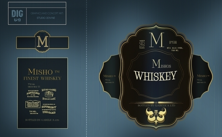 Whiskey label / STUDIO 3DIVINE  - studio-1100 | ello