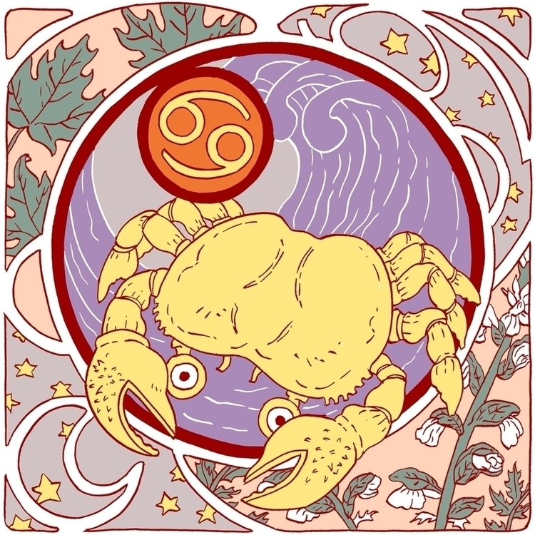 Cancer - zodiac, astrology, crab - juliaminamata | ello