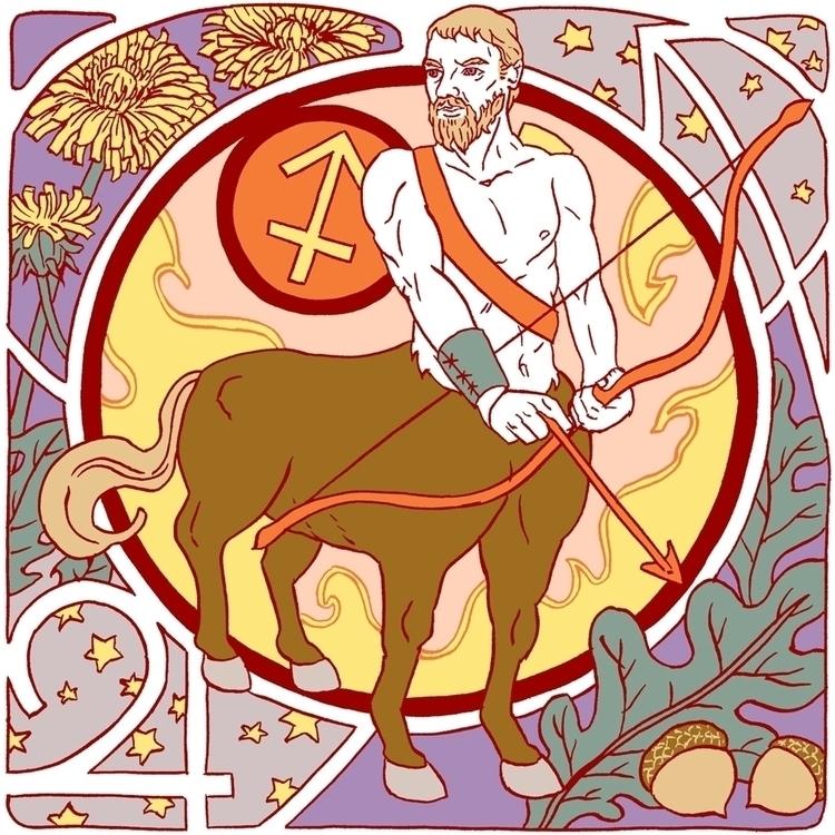 Sagittarius - zodiac, astrology - juliaminamata | ello