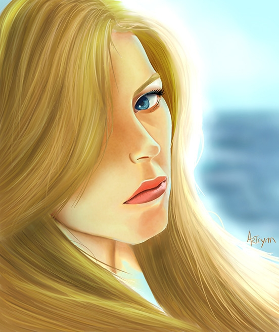 portrait, digitalpainting, woman - artcyan | ello