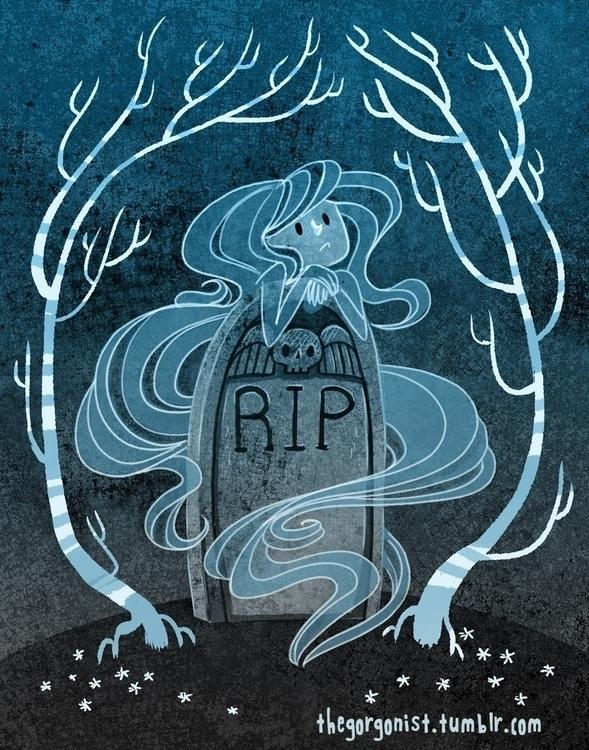 Cemetery Sighs - lonelyghost, cuteghost - robinrobinsonia | ello