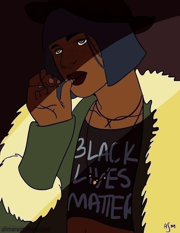 Girl - girl, illustration, blacklivesmatter - asmarts   ello