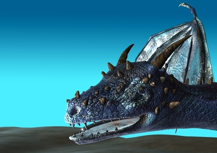 Blue Dragon Closeup - animation - rachelj-1394 | ello