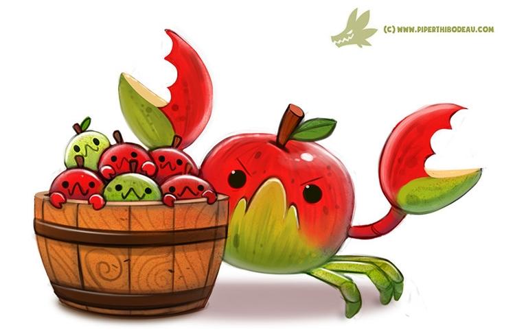 Daily Paint CrabApples - 1196. - piperthibodeau | ello