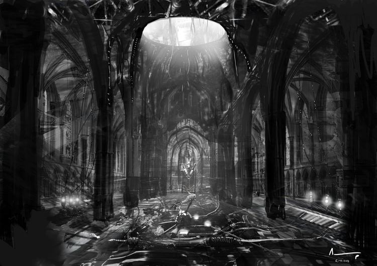interior, monument, church, blackandwhite - albertpradells | ello