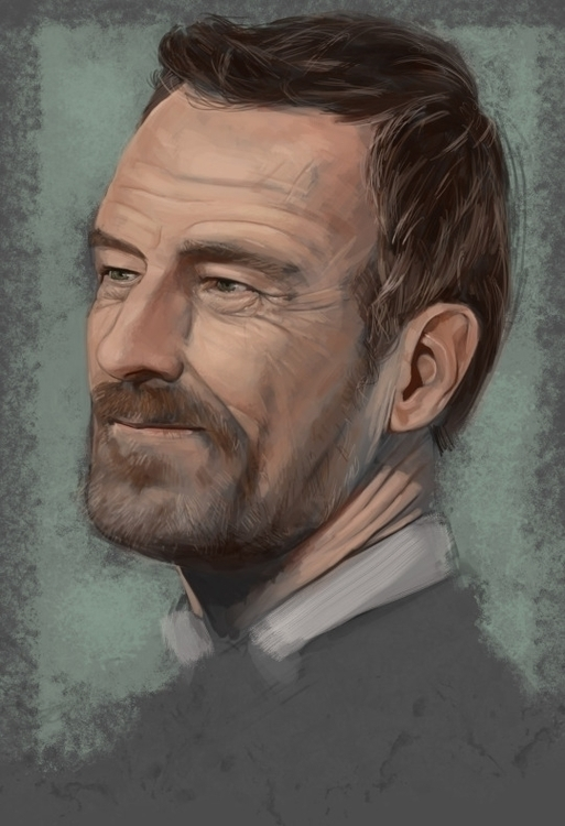 Bryan Cranston - portrait, illustration - josehdz_illustration | ello
