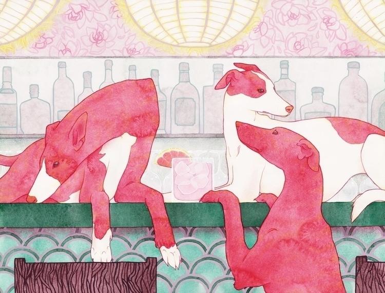 Greyhound - Kelly Airo - illustration - kairo-1139 | ello