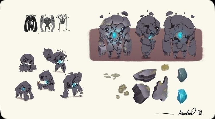 Rock Monster concept design - monster - kalegiro   ello