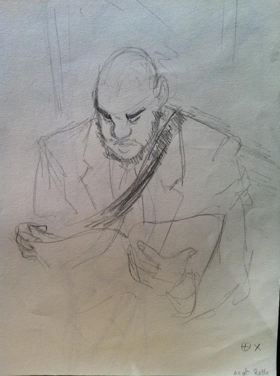 Subway sketch - lifedrawing, sketchbook - clarisse-1174   ello
