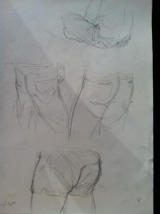 Butt sketches - sketch, sketchbook - clarisse-1174 | ello