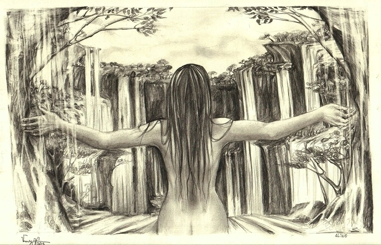 Alleviation - perspective, waterfall - vanniegama | ello
