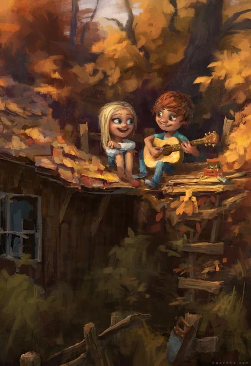 Date - love, kids, guitar, woods - zacretz | ello