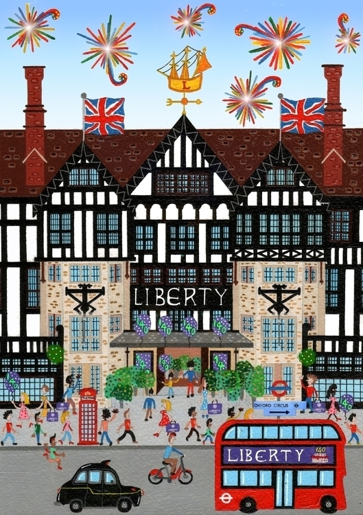 Liberty London commission - illustration - mohanballard | ello