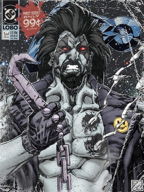 Fake Lobo comics cover - illustration - grositskiy | ello
