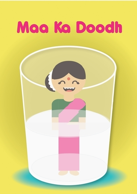 maa ka ddodh - illustration, witty - vidhishakedia | ello