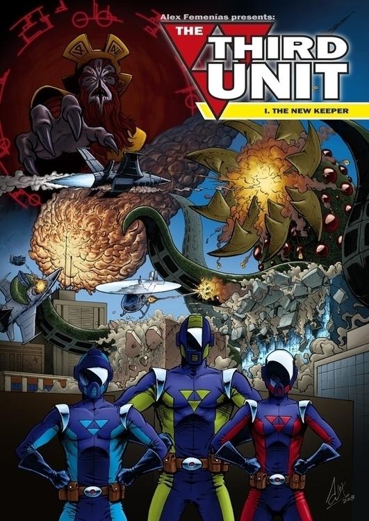 unit cover. Personal comic proj - alexfemenias | ello