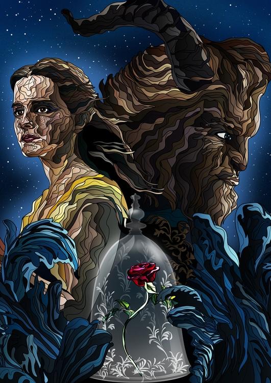 Beauty Beast - illustration, conceptart - karylnerona | ello
