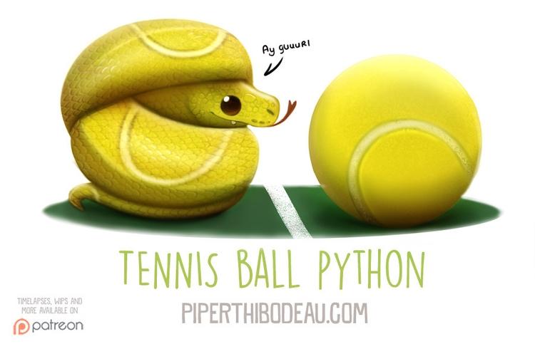 Daily Paint 1594. Tennis Ball P - piperthibodeau | ello