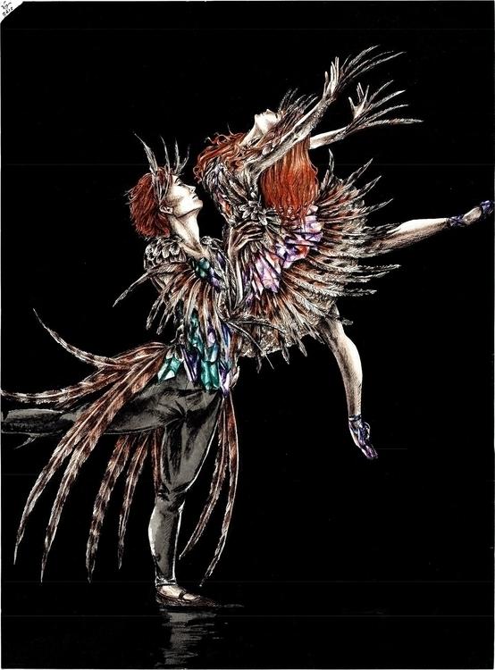 Birds - Drawing Painting - coloredpencil - vanniegama | ello