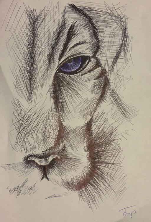 hangover art - lion, biro, biroart - bigfloppybanana | ello