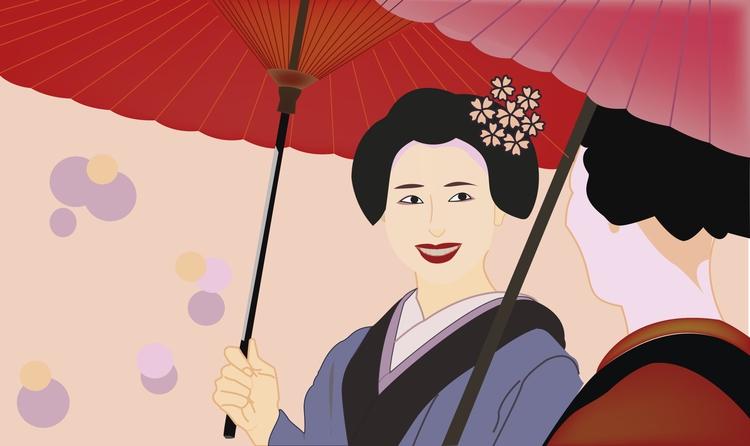 geishas - illustration, design, drawing - grafika-5226 | ello