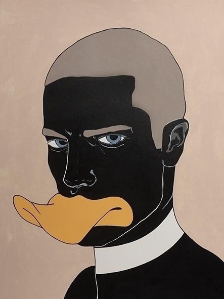 Black duck Acryl paper 30x40cm - jordibisquert | ello