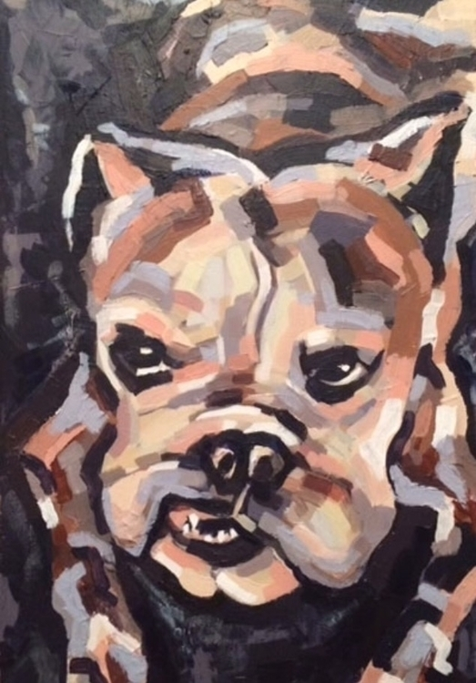 Millie - painting, animals, petportrait - jamiegmorton | ello