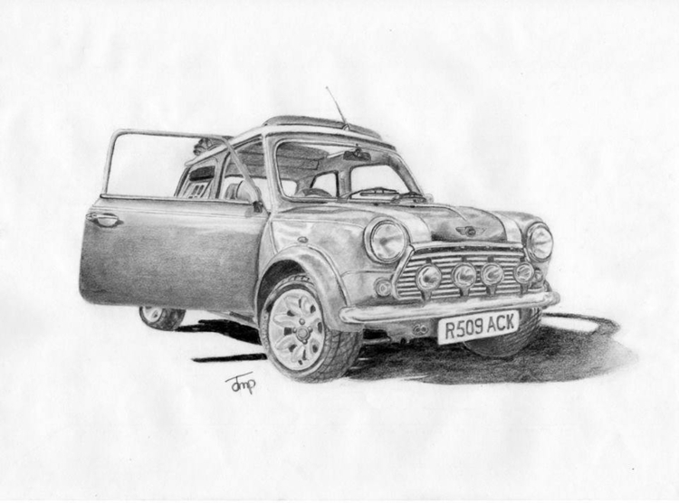 Mini Cooper - minicooper, pencil - bigfloppybanana | ello