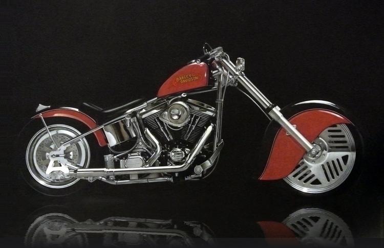Pencil Custom Harley Davidson.  - bariom | ello