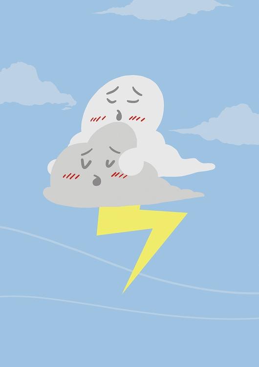 Stormy - illustration, illustrated - odddino | ello