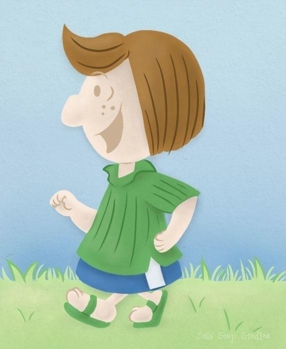 draw tomboy Peppermint Patty Ch - jellysoupstudios   ello