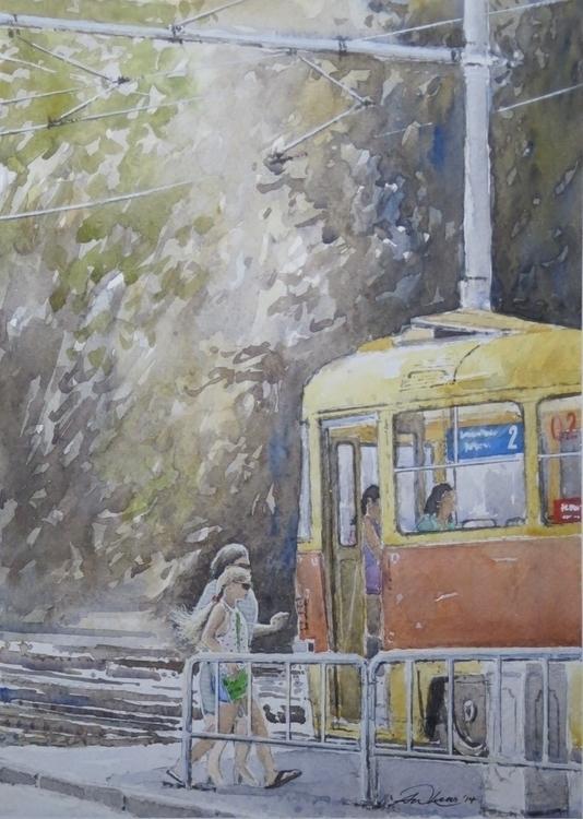 time . passengers tram mid summ - andrewlucas | ello