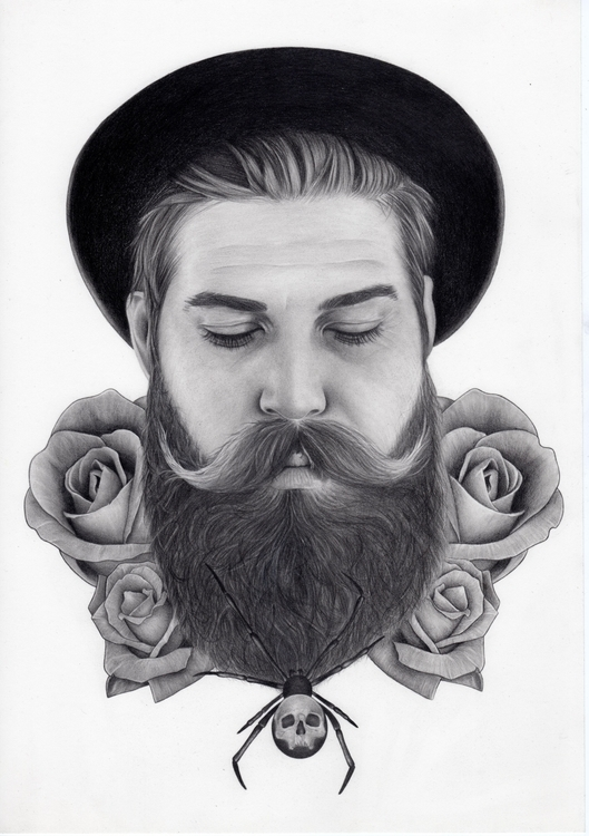 Sweet beard - portrait, illustration - katmay | ello