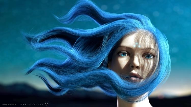 characterdesign, 3d, hair, hairstyles - yamen3d | ello
